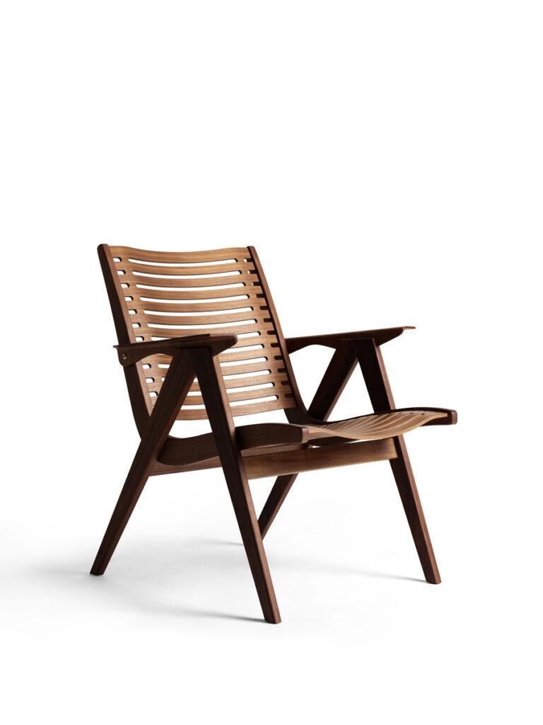 Rex 120 lounge chair in walnut. Design by Niko Kralj.