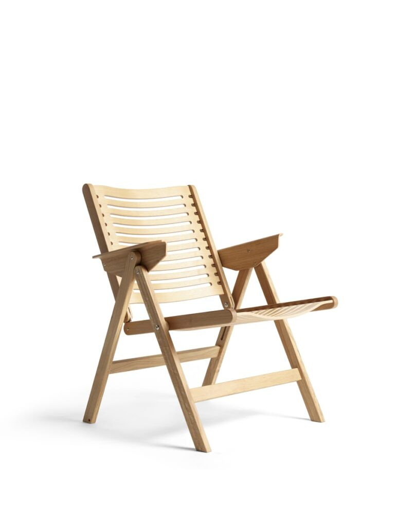 The iconic, foldable Rex Lounge Chair by Niko Kralj.
